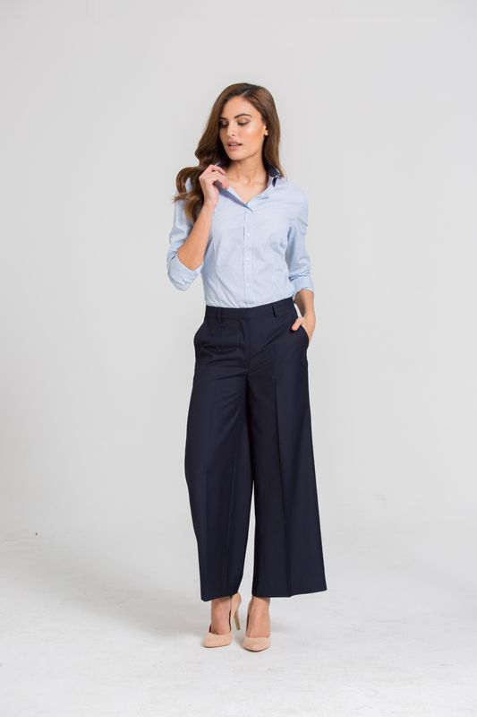 wide leg pants shirt work