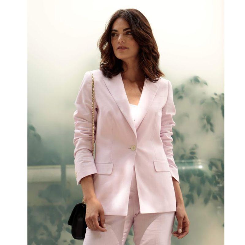 pink spring women suit