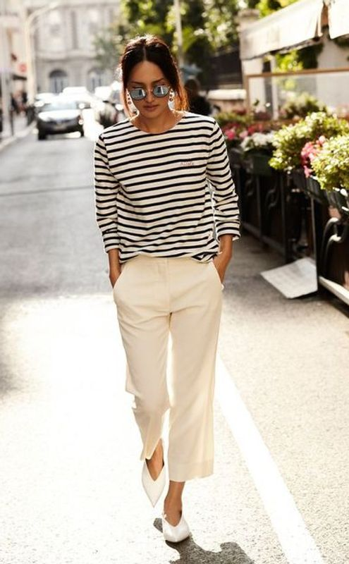 wide leg pants french style