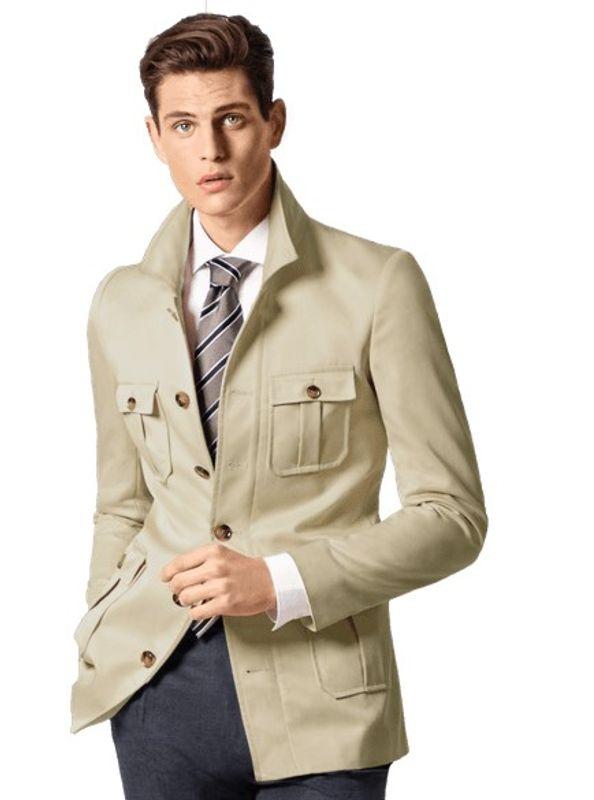 military jacket beige