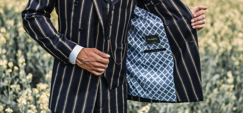 Get back the 80's Style with a Pinstriped Suit