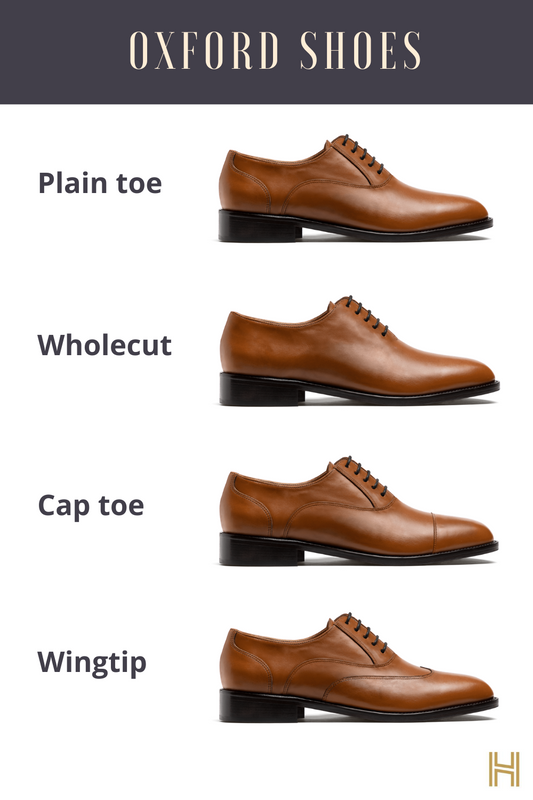 types of oxford shoes