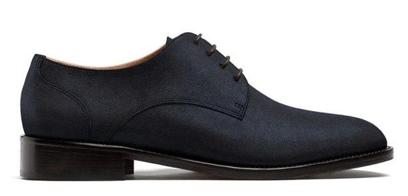derby shoes blue suede