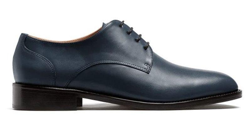 blue derby shoes