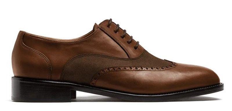 brown wingtip dress shoes