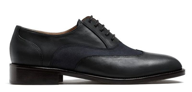 black wingtip dress shoes