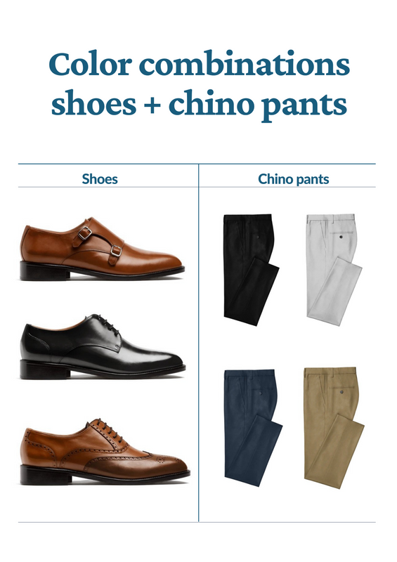 chino pants what shoes to wear