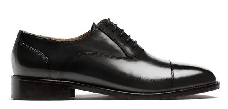 shiny tuxedo oxford shoes