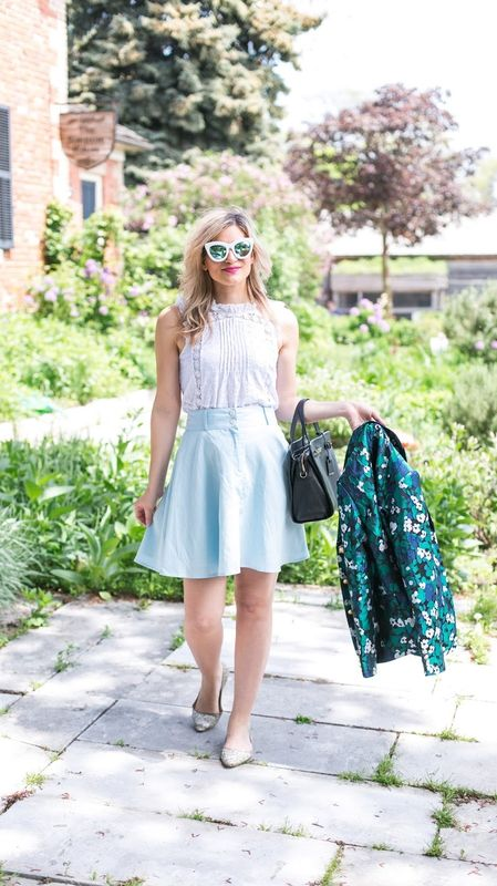 business casual style skirt