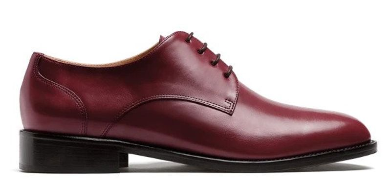 oxblood derby shoes