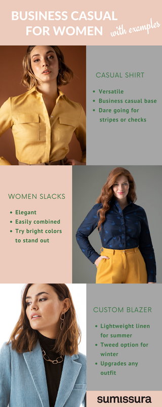 business casual women examples
