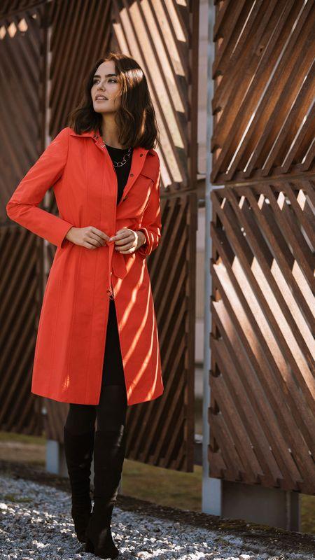 winter dress trenchcoat