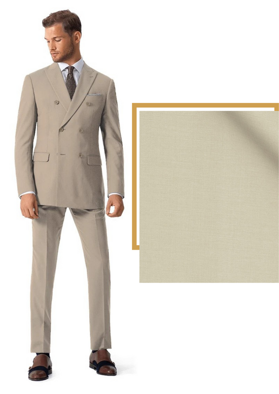plain beige suit