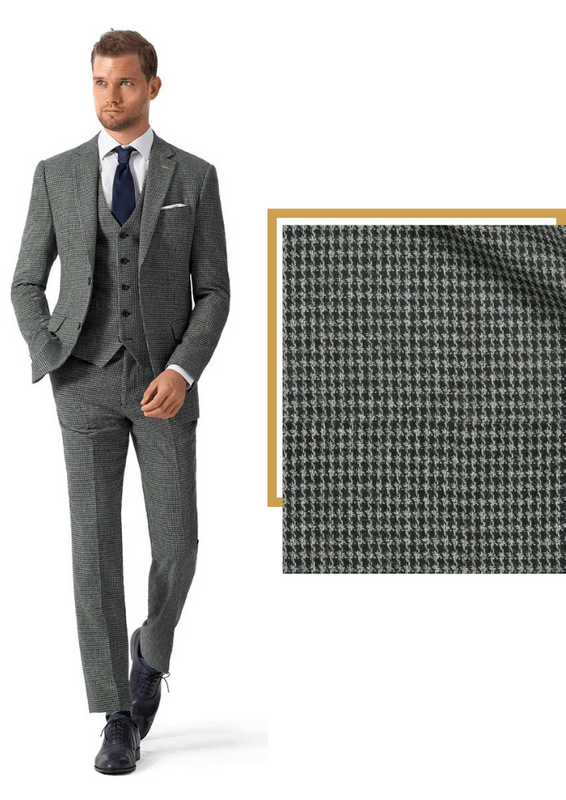 grey tweed houndstooth suit