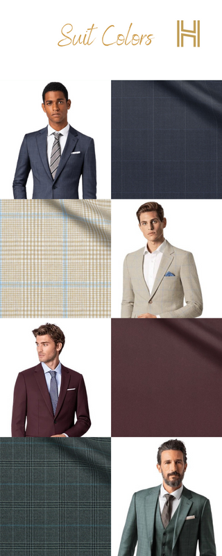 suit colors infographic