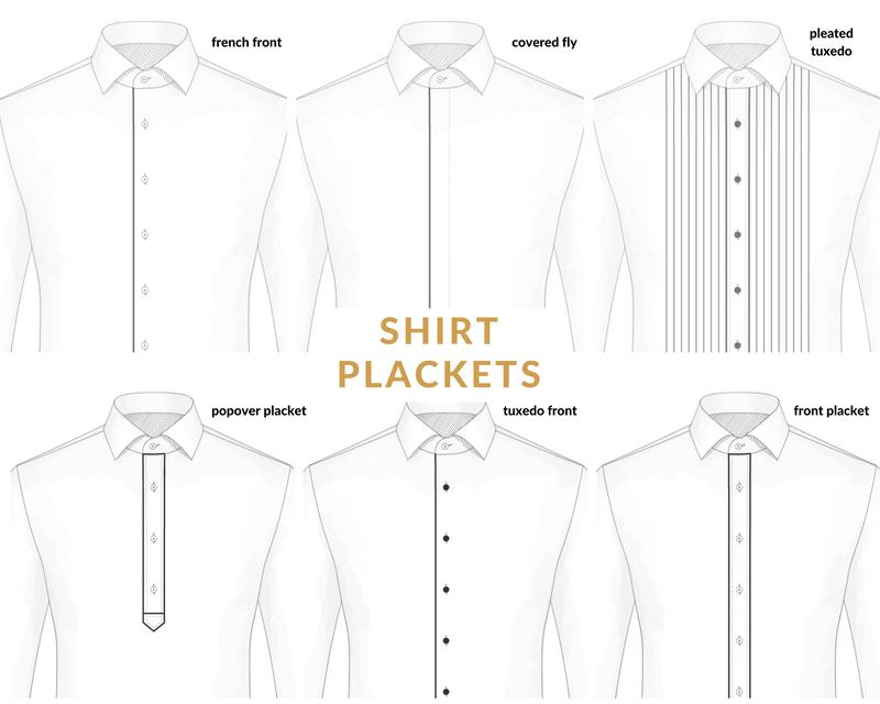 Shirt placket: 6 types of dress shirt plackets