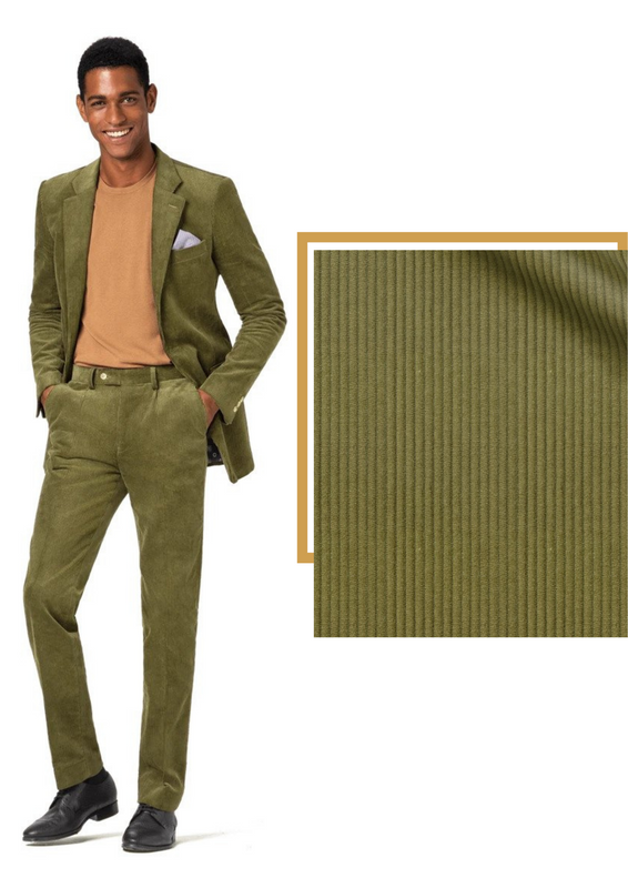 green corduroy suit
