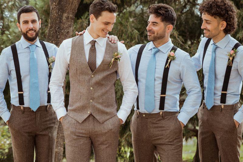 groom linen suit