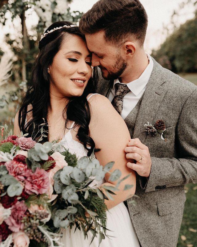 wedding suit tweed three piece