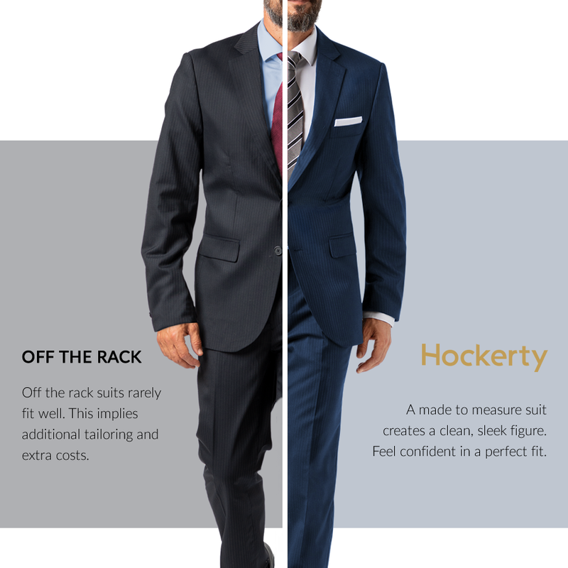 Spot the difference: Made to measure vs off the rack suit
