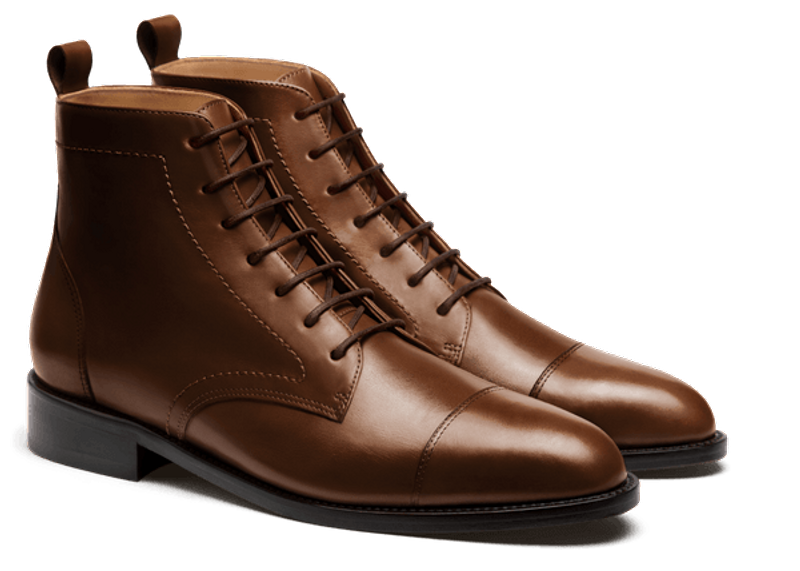 brown men's dress boots