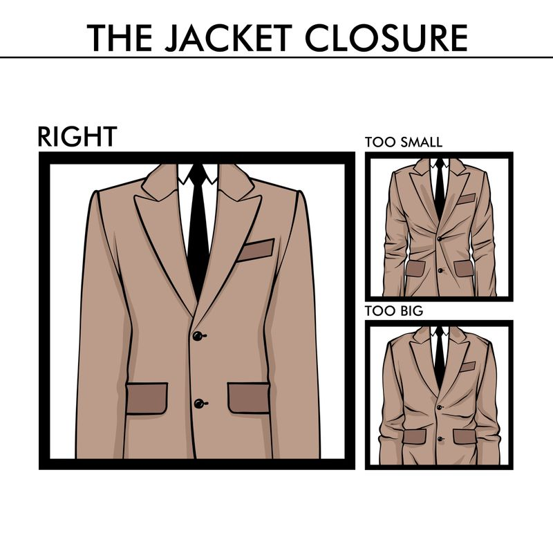 jacket closure fit