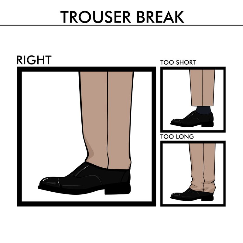 trouser break suit fit