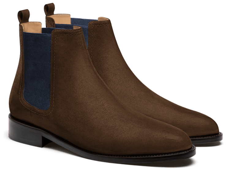 dark brown chelsea men's boot