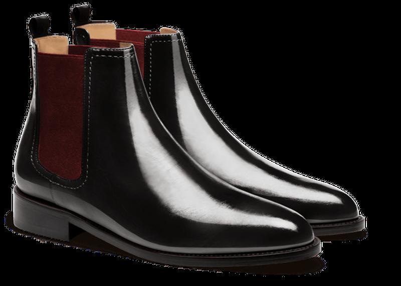 black men's chelsea boots