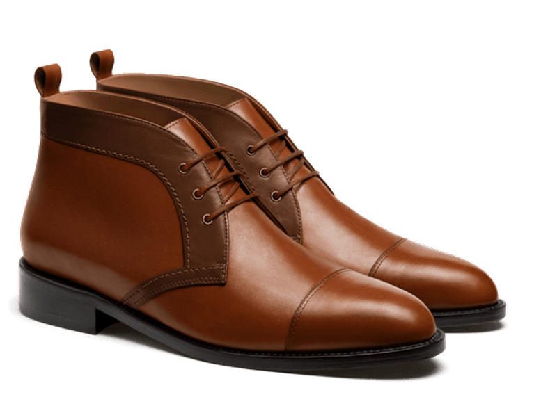 brown men's chukka boot