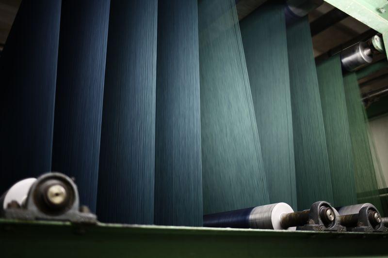 Gefärbtes Jeans Garn