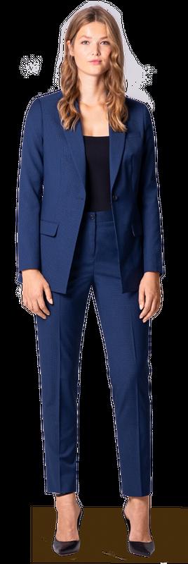 blue women's suit