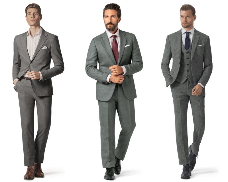 Guide: Charcoal grey suit combinations