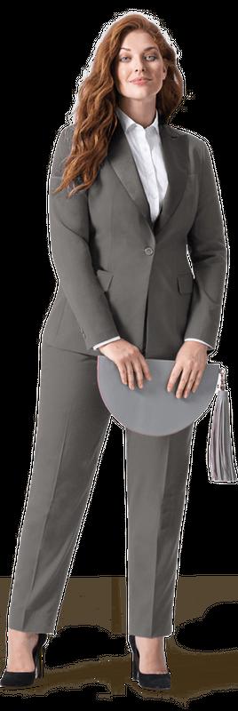 grey plus size suit