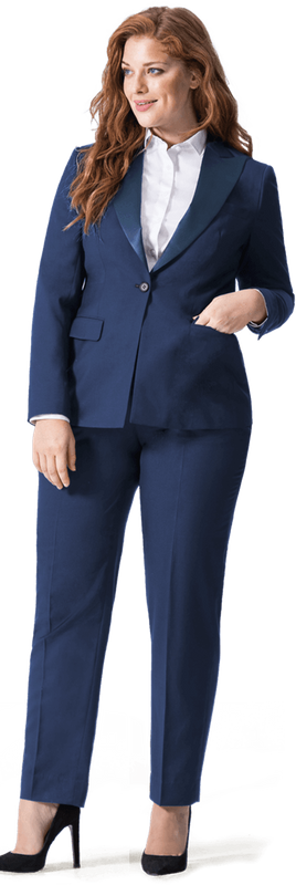 navy blue linen plus size suit