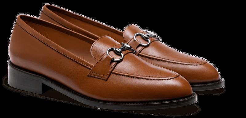 brown horsebit loafers
