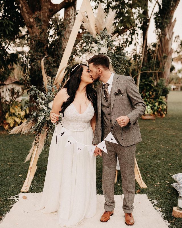 rustical wedding suit