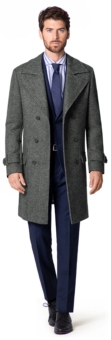 men's double breasted overcoat