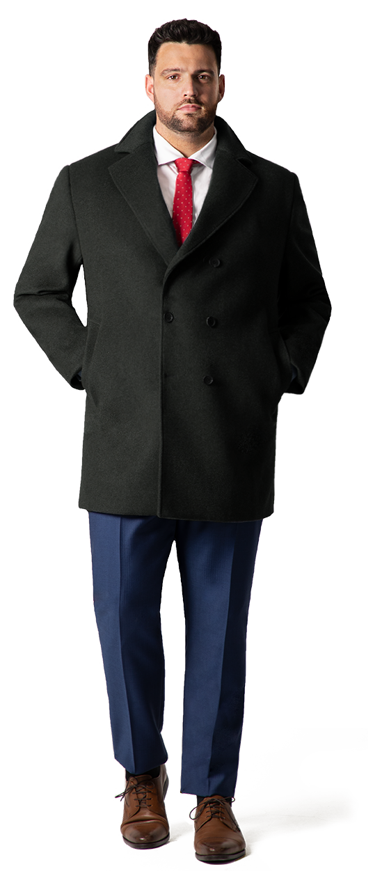 big and tall overcoats