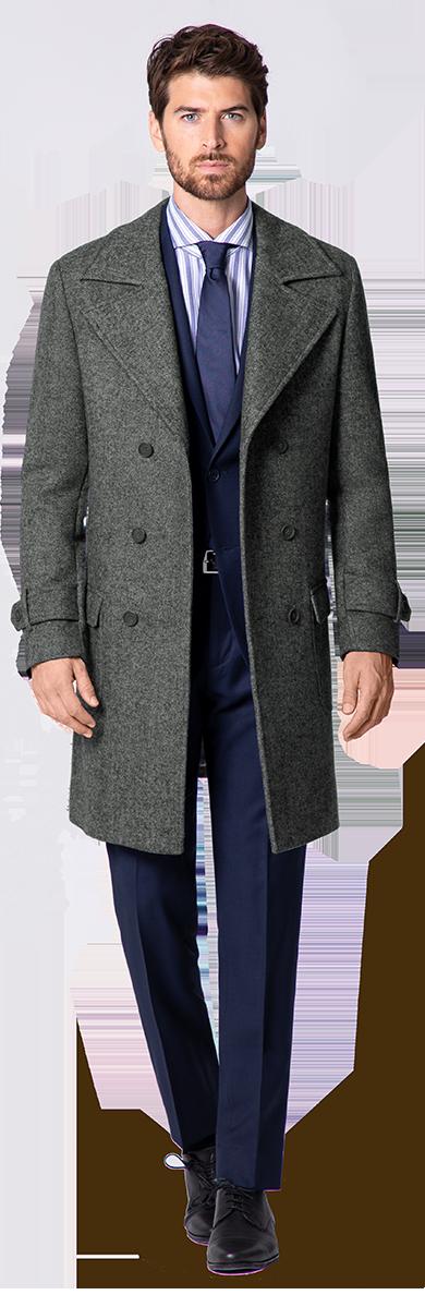 grauer Herren Mantel