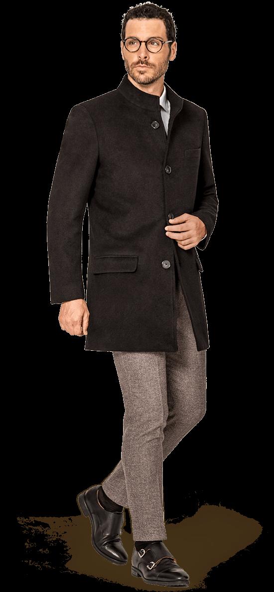 cappotto nero uomo