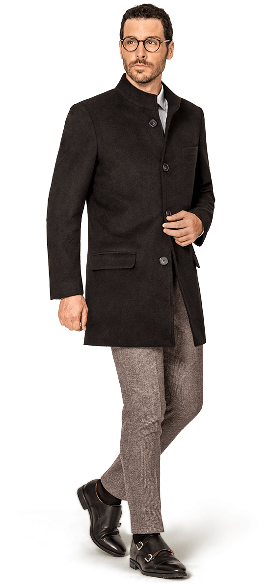 Manteau col officier