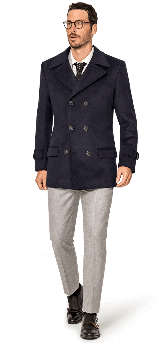 navy blue pea coats