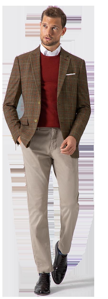 giacca tweed uomo