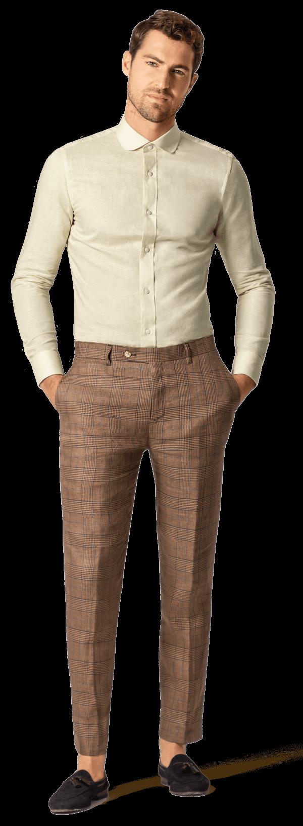 Pantalones De Lino De Hombre A Medida Online 69 Hockerty