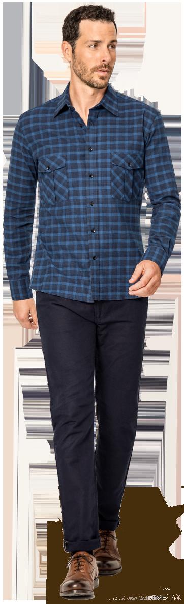 Herren Flannelhemd