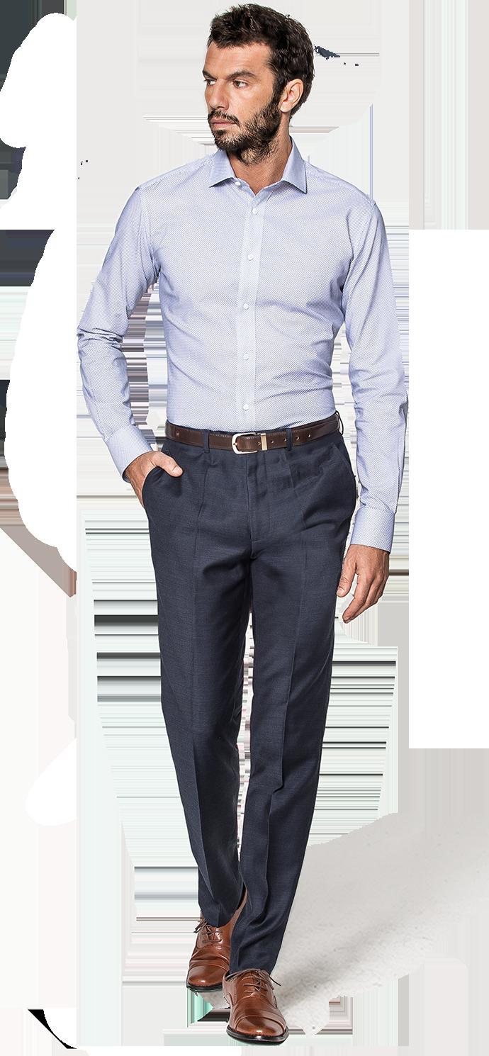 camicia blu uomo