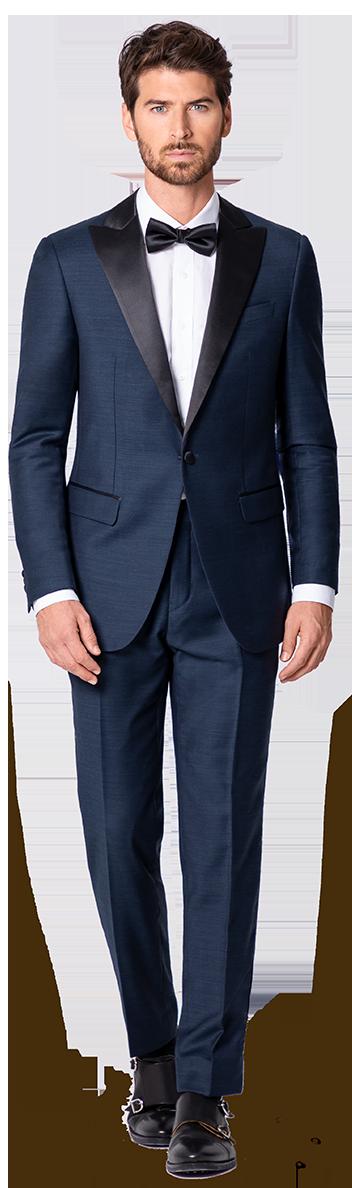 black tie suit