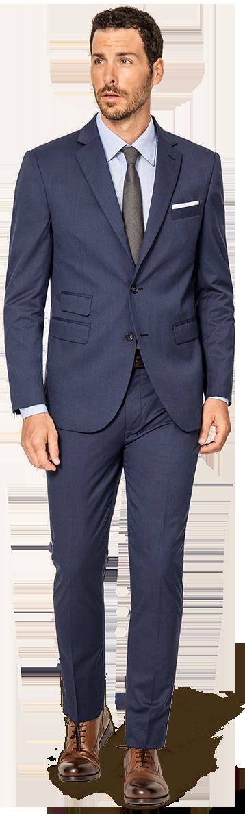 Blue tailored suit
