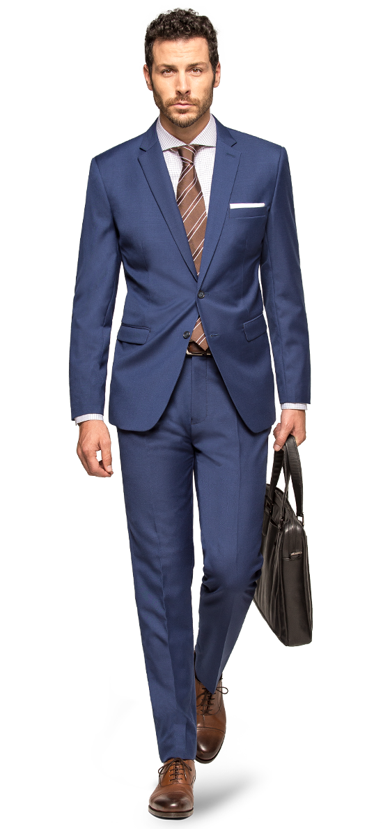 mens blue suit